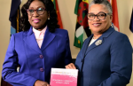 Honourable Dame Janice M. Pereira, DBE, LL.D, Chief Justice, (above left)